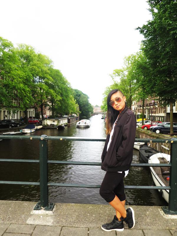 Arriving in Amsterdam.