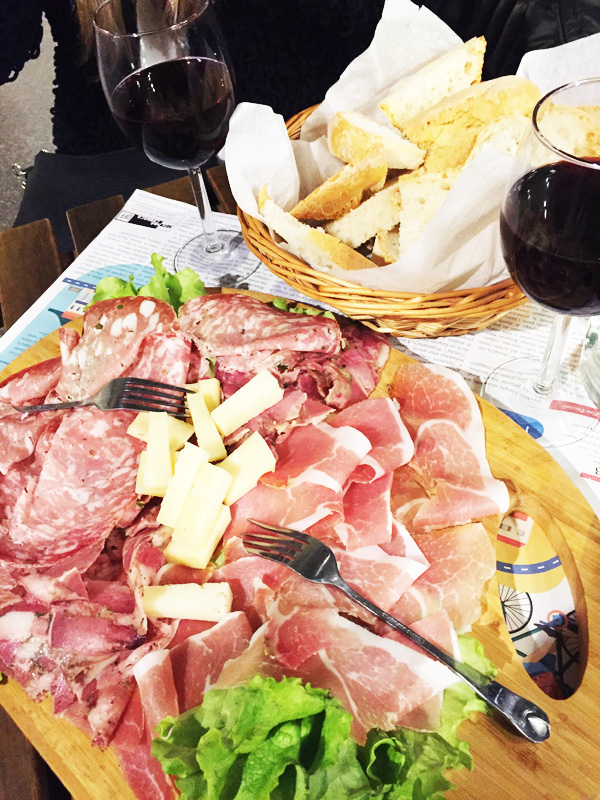 cheese and meat italy