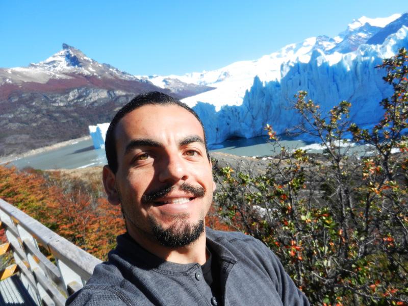 Beautiful day at Perito Moreno Glacier near Calafate, Argentina.
