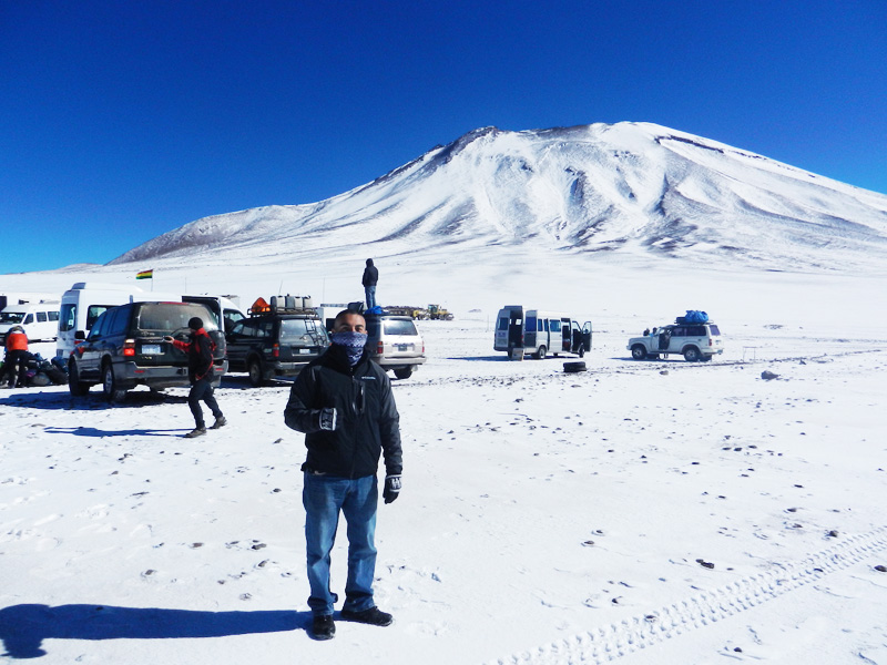 Border crossing between Chile and Bolivia for Salt Flats.