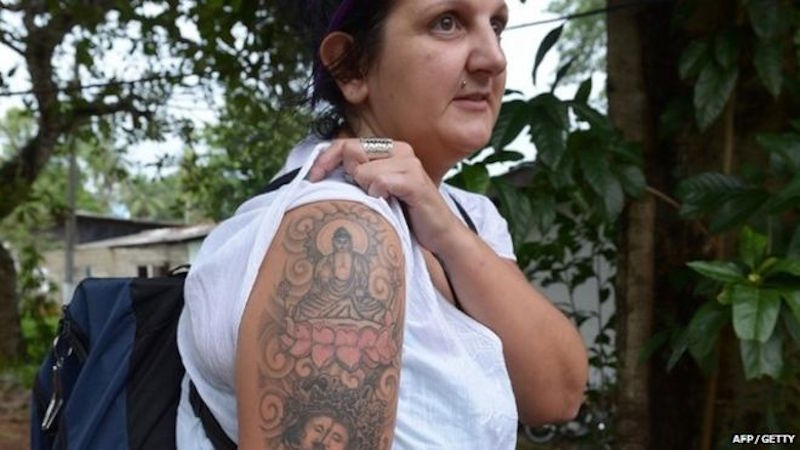 Sri Lanka to deport British woman for Buddha arm tattoo