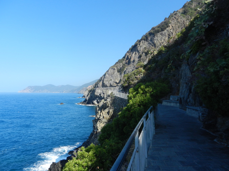 Coastal walkway at Cinque Terre.