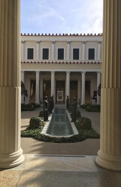 The Getty Villa Walkway