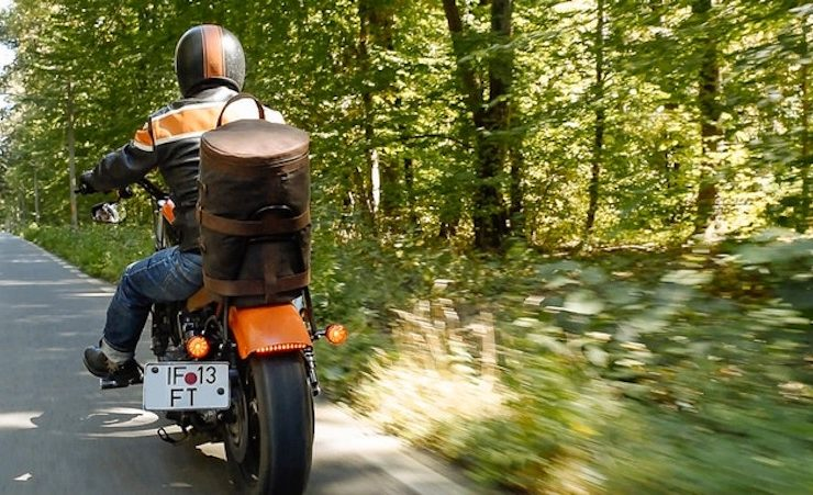 Motorcycle Bag In Use