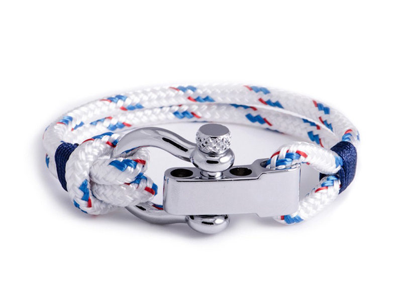 Regatta - White Shackle Bracelet for Men & Women