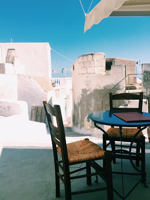 Cafe The Old Barbershop Santorini