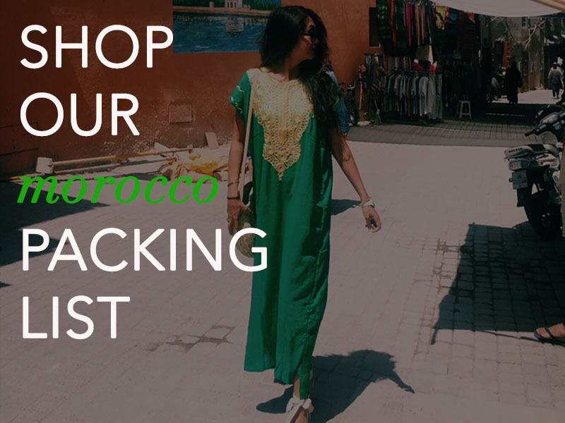 Packing List Morocco