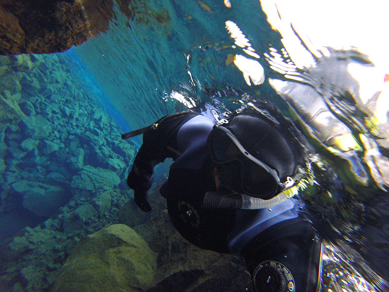Snorkling Dive Silfra Iceland