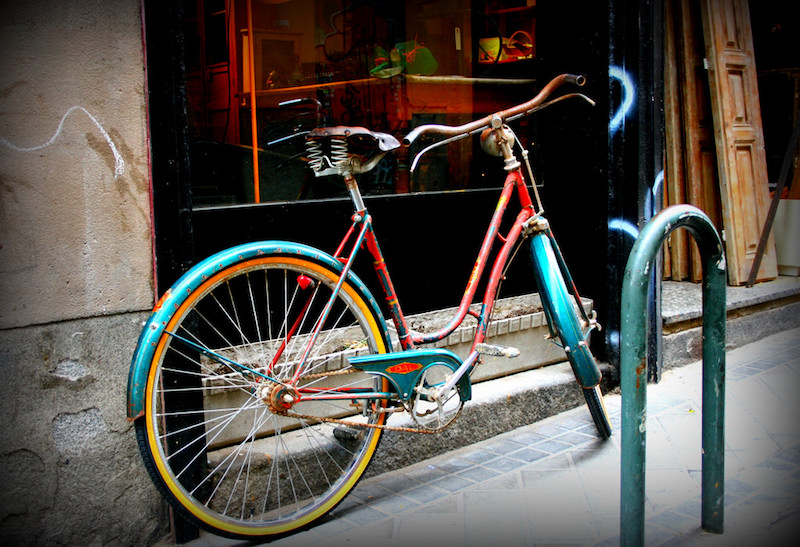 Blue Green Bicycle