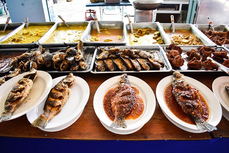 Nasi Kandar buffet.