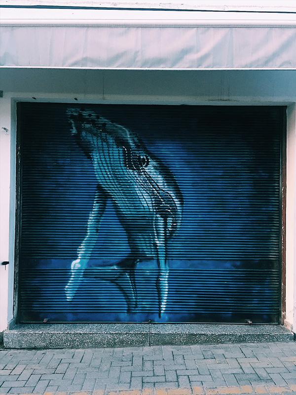 Street art in North Nicosia.