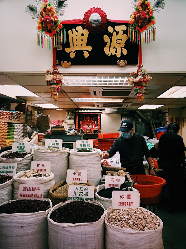 Spices and herbs shop in Sheung Wan, Hong Kong