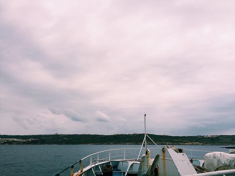 Ferry to Gozo Island.