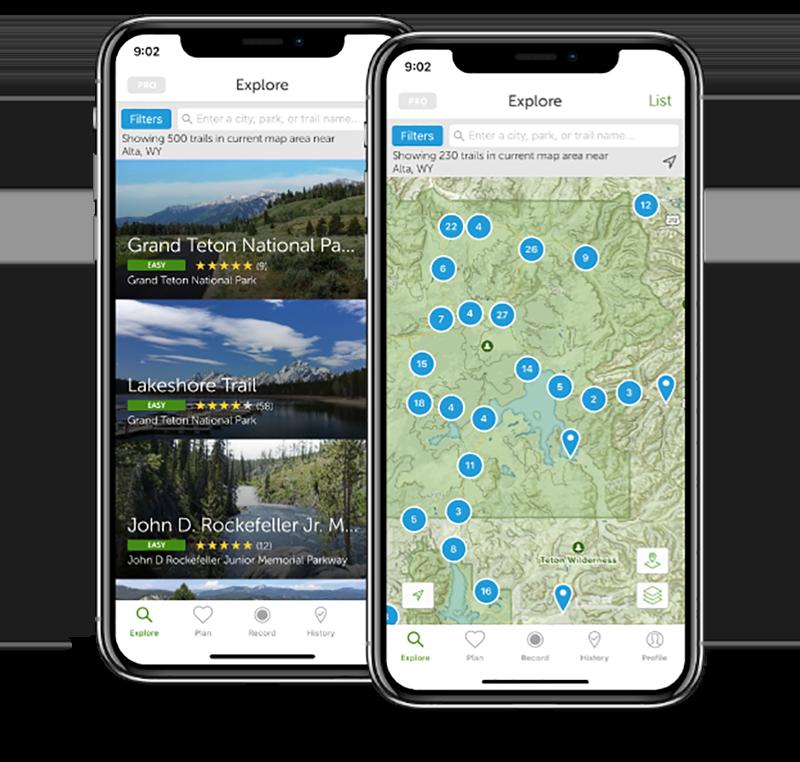 AllTrails App.