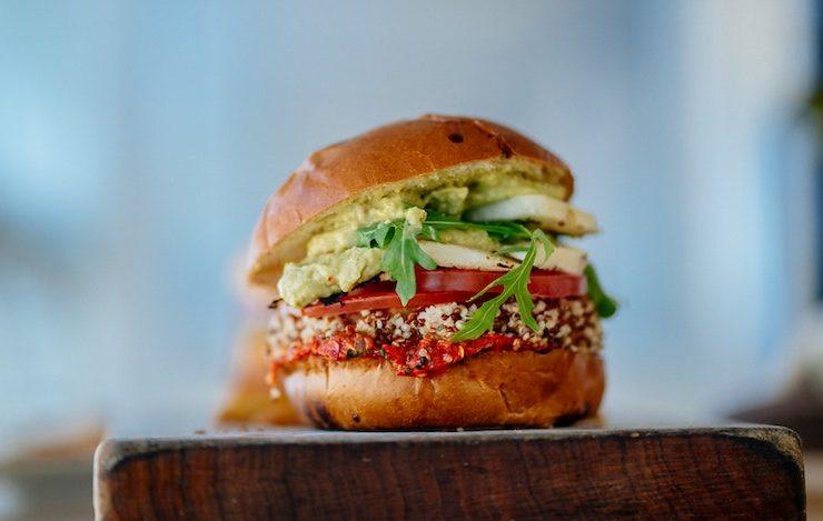 Vegetarian burger.