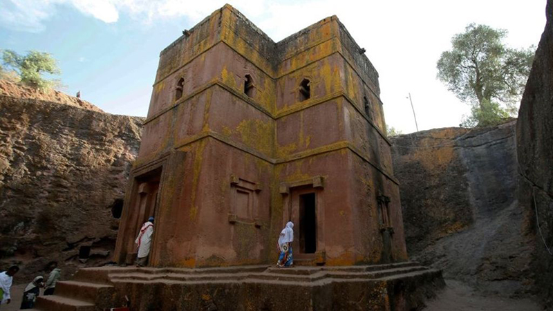 The Church of St. George in Lalibela.