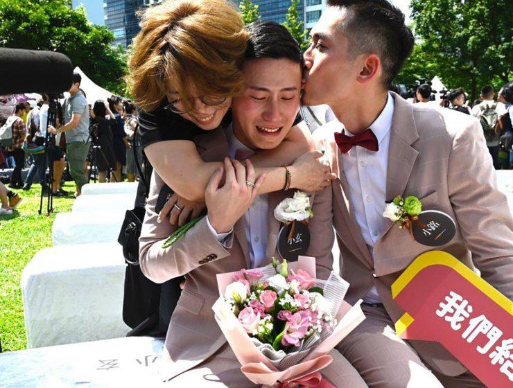 Gay Couple Celebrates Legalization.