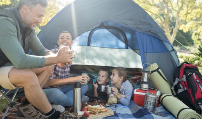 Tent tactics family camping trip