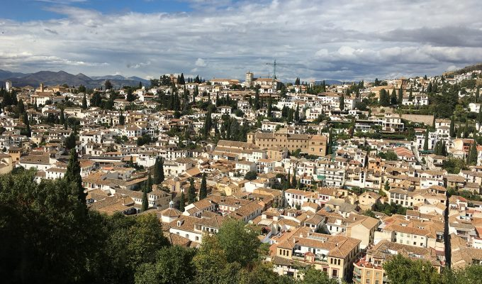 The city views from the Alhambra.