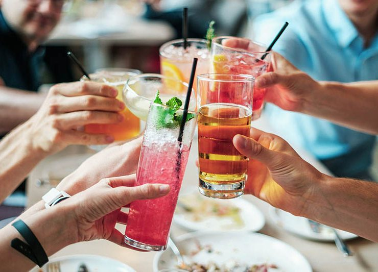 celebrities drinking