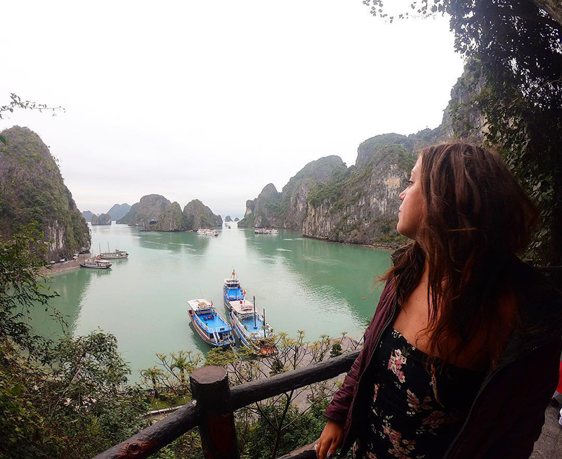 Exploring Ha Long Bay, Vietnam.