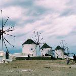 Windmills in Greece.