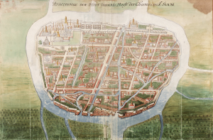 Painting by Johannes Vingboons of Ayutthaya, c. 1665
