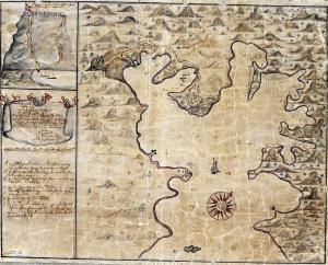 Coral Bay, Saint John; map from 1720