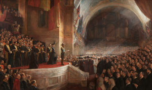 The Big Picture, opening of the Parliament of Australia, 9 May 1901, by Tom Roberts