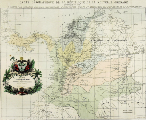 Location of the Granadine Confederation