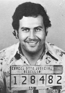 A mug shot taken by the regional Colombia control agency in Medellín in 1976.
