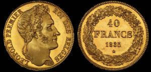 Belgium 1835 40 Francs