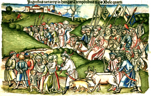 The Mongol invasion in Hungary in Chronica Hungarorum by Johannes de Thurocz
