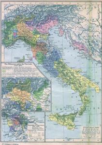 Italian Peninsula in 1494, after the Peace of Lodi