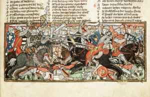 Clovis I fights the Visigoths