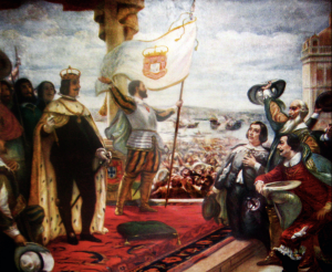 John IV of Portugal being proclaimed king.