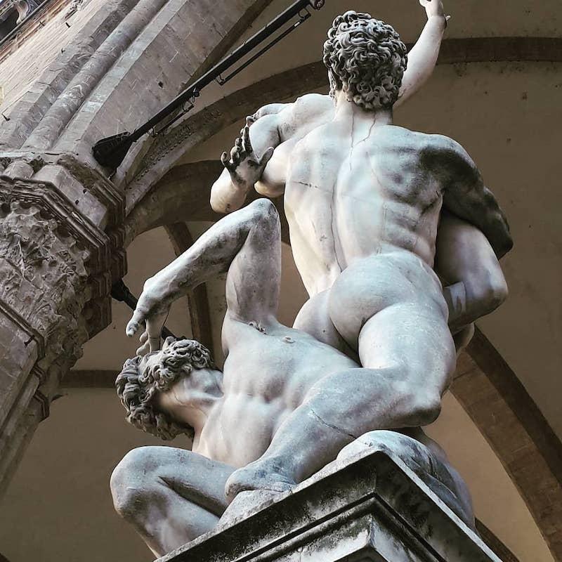 Rape of the Sabine women, Piazza della Signoria