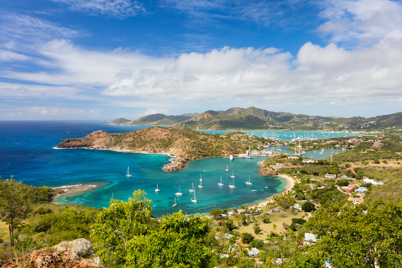 Antigua island landscape