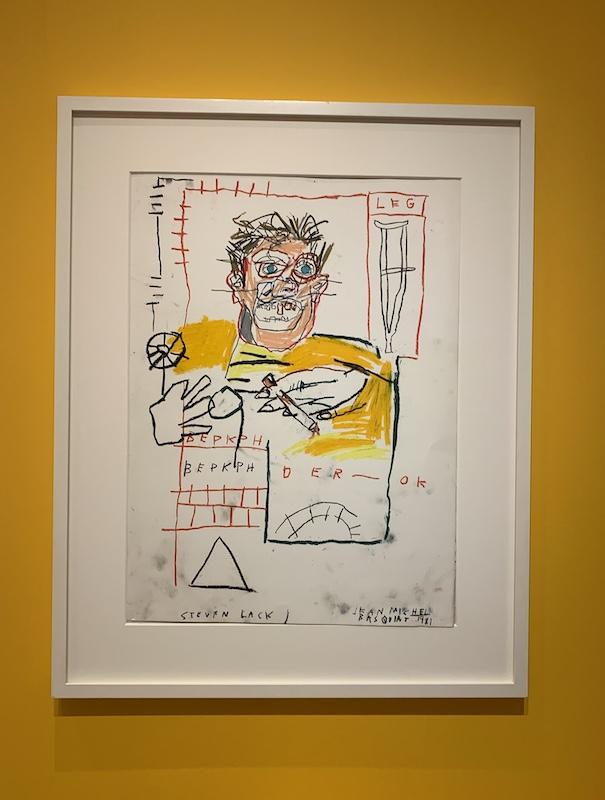 Basquiat: untitled (portrait of Steven Lack.)