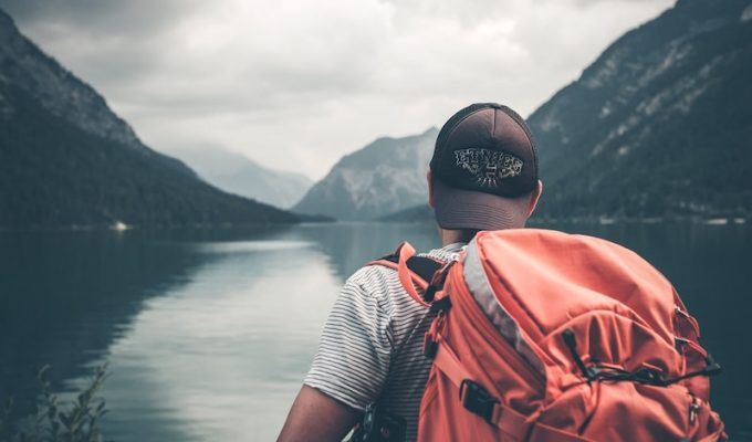 college students travel backpacking