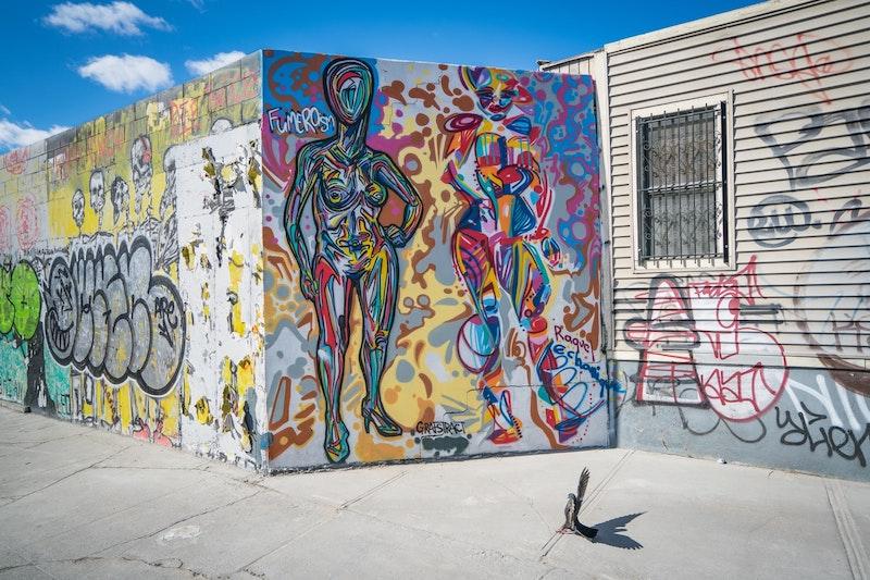 Street art in Bushwick, Brooklyn.