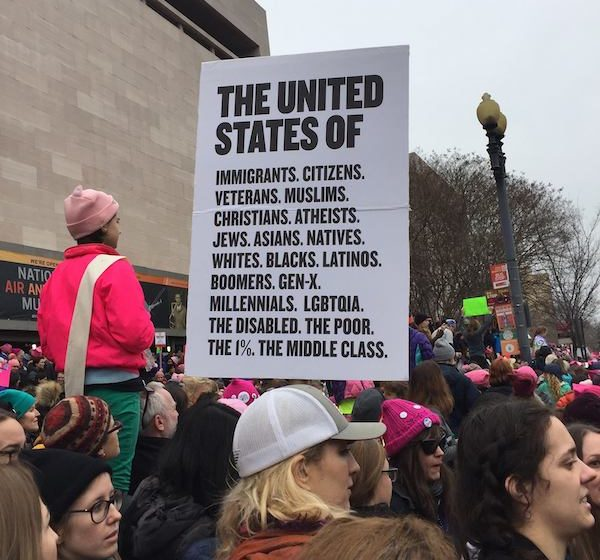 Woman's March sign