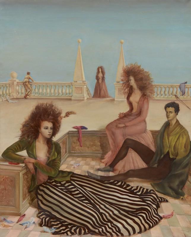 Figures On A Terrace by Leonor Fini
