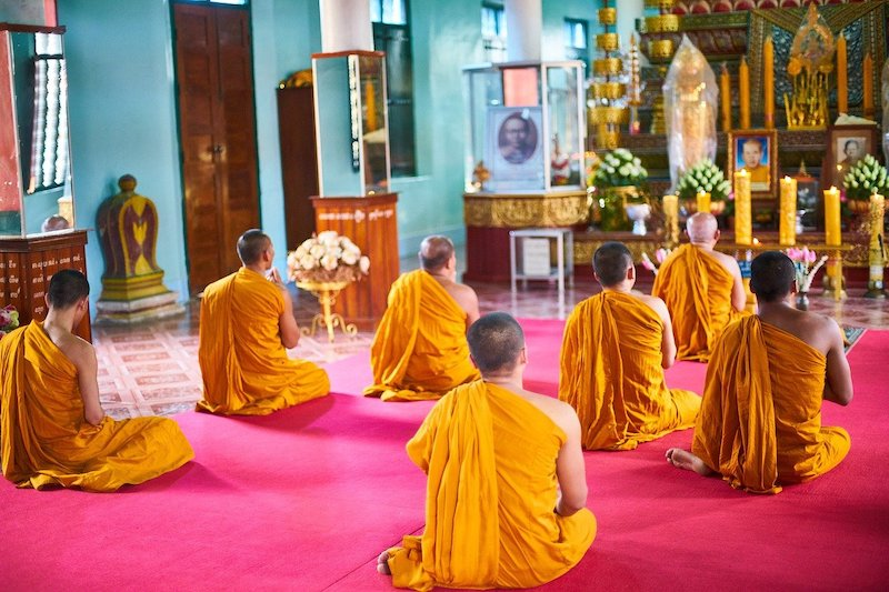 Monks in Buddhist Temple