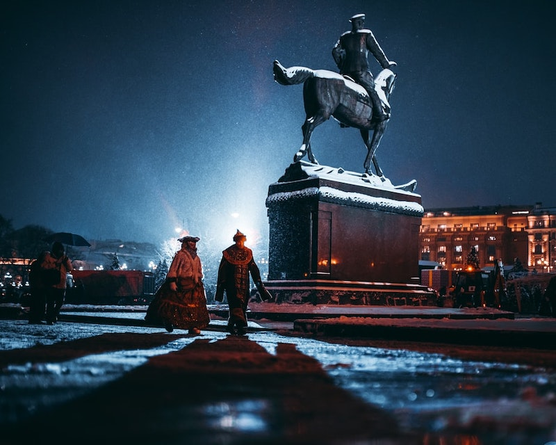 Russians red square